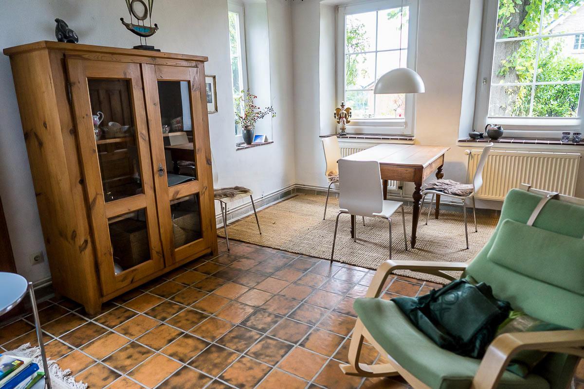 Wohnzimmer im Ferienhaus Ostbris