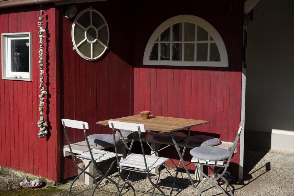 Sitzplatz im Ferienhaus Ostbris